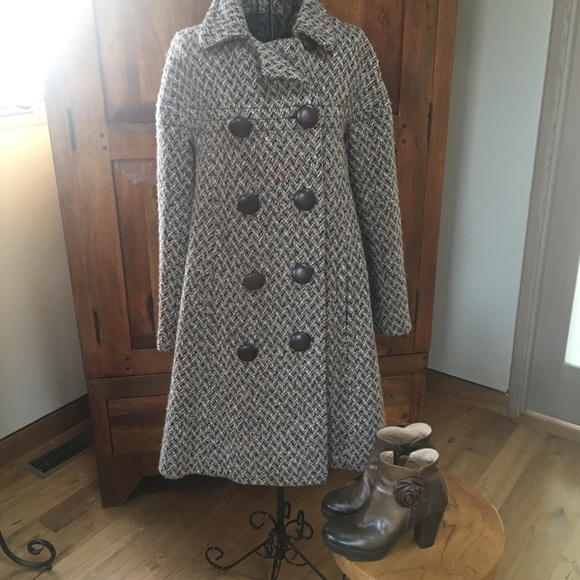 6e14254ef Orla Kiely brown tones coat is superbly tailored